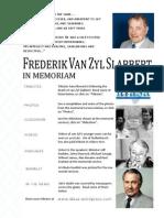 Frederik van Zyl Slabbert - in memoriam