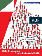 Programm SPD Delmenhorst in Leichter Sprache