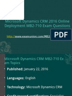 ExamUnion MB2-710 Microsoft Dynamics CRM 2016 Online Deployment MB2-710 Exam Questions