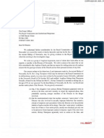 Letter from Various to Royal Commission