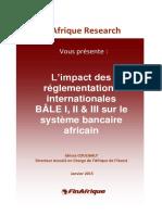 Impact_de_Bale_I_II_III Sur Les Banques Africaines - Conformité