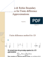 Neumann & Robin Boundary Conditions for Finite Difference