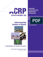 ACRP Safety Reporting System at Airports