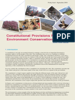 Constitutional Provisions Related to Environment Conservation Final
