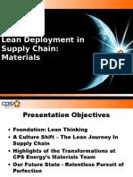 Lean Deployment in Supply Chain