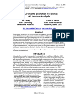 Requirements Elicitation Problems, a Literature Analysis