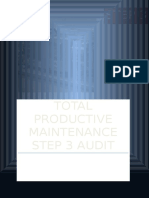 Autonomous Maintenance Step 3 Audit Sheet