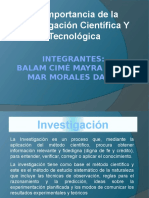 investigacion cientificay tecnologica