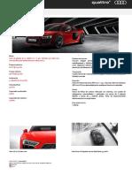 Ficha Técnica - R8 Coupé Plus 5.2 FSI 610 Quattro MY17