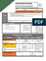Plan y Programa de Evaluacion 3º