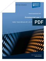 2015 Commercial Law Hand in Assessment 2015-2