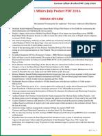 Current Affairs Pocket PDF - July 2016 by AffairsCloud.pdf