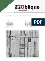 La rassegna stampa di Oblique, agosto 2016