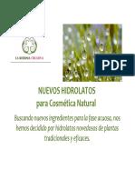 HIDROLATOS recetas HYDROLATES recipes natural cosmetic