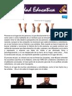 Boletin Movimiento Magisterial Dignidad Educativa PONTE en EL LUGAR de LA OTRA PERSONA