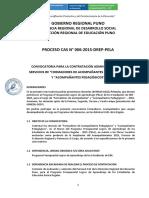 Convocatoria CAS 006 Formadores Acompañantes