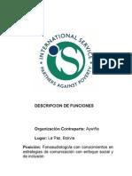 Descripcion de Funciones - Fonoaudiólogo para Aywiña
