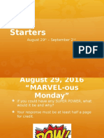 august starters week 3