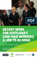 Decent Work for Scotland's Low-Paid Workers: A job to be done