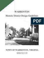 Warrenton Historic District Guidelines
