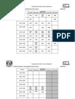 Calendario de Inducción