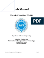 EL340 Electrical Machines Lab Manual