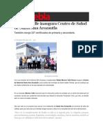 01-09-2016 Sexenio Puebla - Moreno Valle Inaugura Centro de Salud de Santa Ana Acozautla