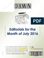 DAWN Editorials - July 2016