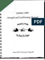2002 TAM Kingsville strength manual