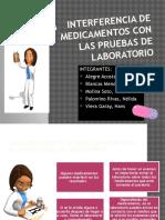 Interferencia de Medicamentos Con Las Pruebas de Laboratorio