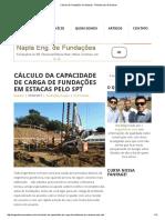Cálculo de Fundações Em Estacas - Planilha Para Download