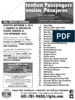 RIPTA 2016 Fall Schedule