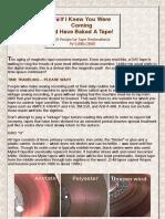 Analog Tape Restoration