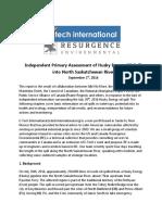 E-Tech - Resurgence Report on Husky Spill -Sept 1 2016