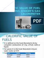 81206710-CALORIFIC-VALUE-OF-FUEL-USING-JUNKER-S-GAS-CALORIMETER.pptx