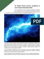 Global Power Service, Award Ecohitech 2014 al Comune di Casalmoro (MN)
