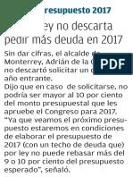 02-09-16 Monterrey no descarta pedir más deuda en 2017