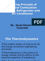 WORKING PRINCIPLES OF IC ENGINES, REFRIGERATORS AND AIR CONDITIONER