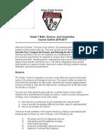 grade 7 course outline