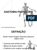 Anatomia Palpatória