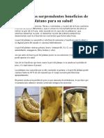 Conozca Los Sorprendentes Beneficios de La Piel Del Plátano Para Su Salud