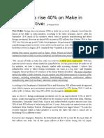 FDI Inflows Rise 40