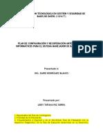 Plan de Configuracion y Recuperacion Ante Desastres Para El Smbd