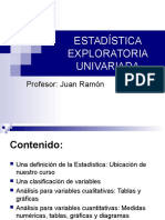 Estadística exploratoria univariada