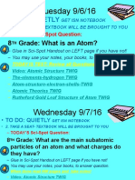 week 4 intro grade 8 atomic theory notes