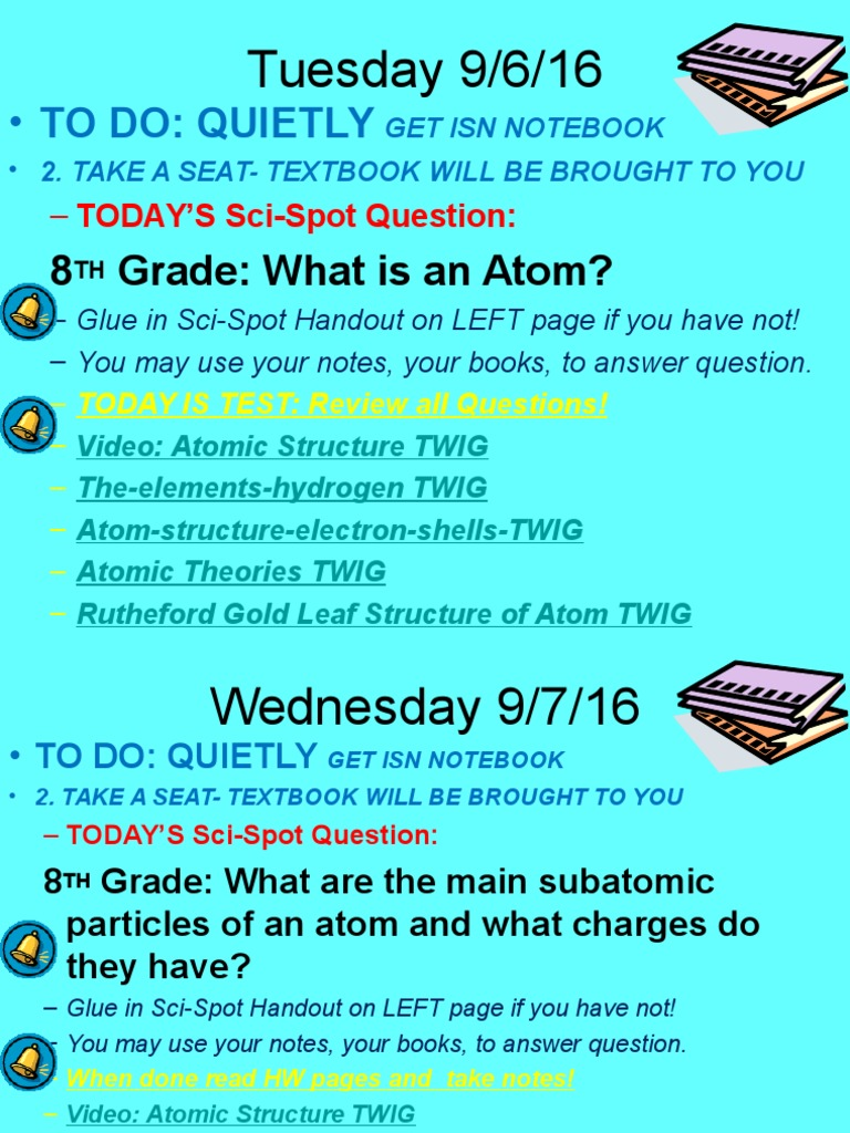 Week 4 intro grade 8 atomic theory notes chemical compounds atoms ccuart Image collections