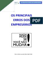 OS PRINCIPAIS ERROS DOS EMPRESÁRIOS