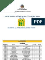 Albergues Temporales 2010