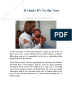 Zika_Brazil Admits It's Not the Virus