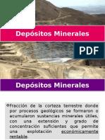 1) Depósitos Minerales(1)